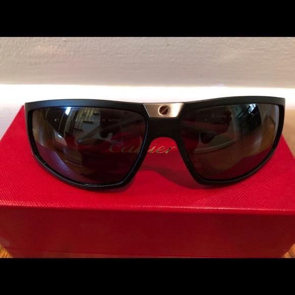 76f2a28586 Cartier Accessories - Cartier Santos Sport Black Sunglasses